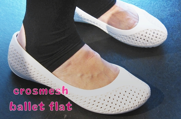 crocs crosmesh ballet flat
