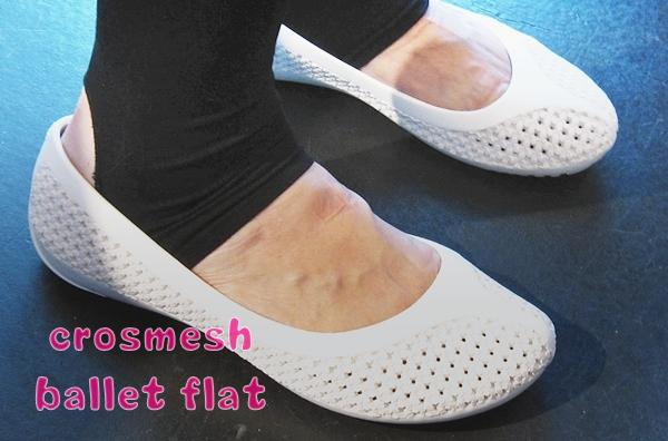 crocs crosmesh ballet flat