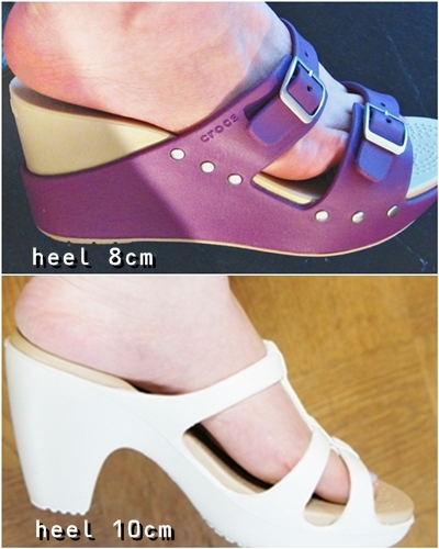 crocs heel sandal