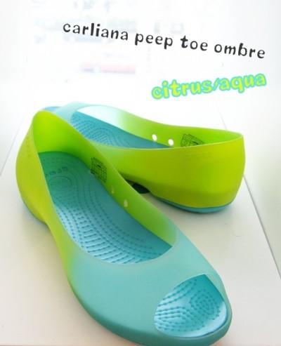 crocs carliana peep toe ombre aqua