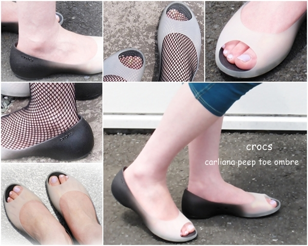 crocs carliana peep toe ombre