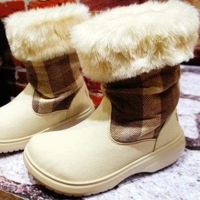 warm & toasty plaid boot w ウォーム&トースティ プラッド ブーツ ウィメンズ