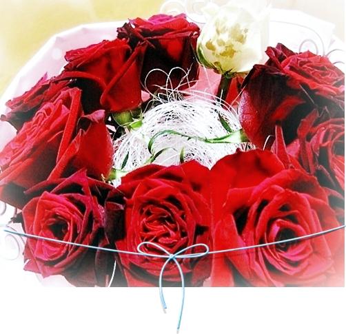 9メッセージ入りバラ花束 レターローズ