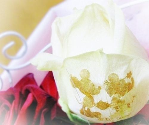 1メッセージ入りバラ花束 レターローズ ディズニー