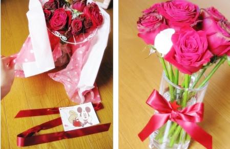 10メッセージ入りバラ花束 レターローズ
