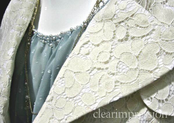CLEAR IMPRESSION 総レーストレンチコート6