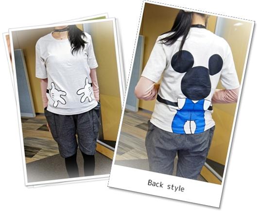ベルメゾン ディズニーつながるTシャツ16