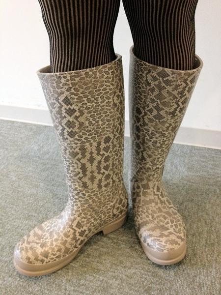 wellie leopard print boot w ウェリー レオパード プリント ブーツ ウィメン
