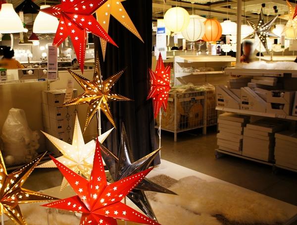 IKEAの照明ゾーン クリスマス