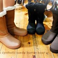 クロックス modessa synthetic suede button boot w モデッサ シンセティック スエード ボタン ブーツ ウィメン