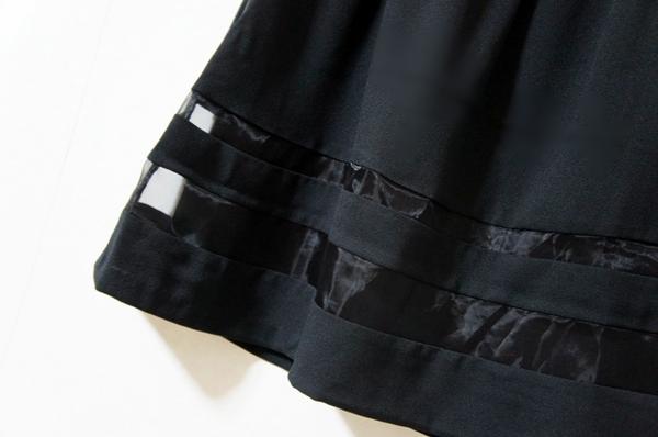 a.v.v オーガンジー切替スカート
