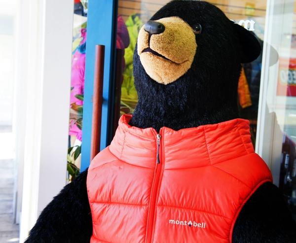 モンベル 熊 ダウンジャケット