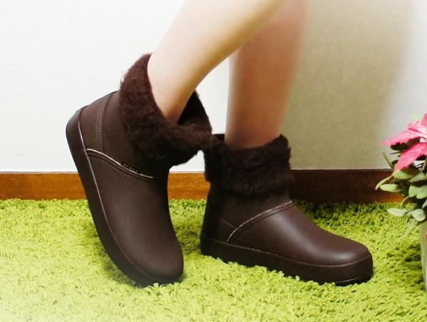 もこもこソックス靴下 クロックスカラーライトブーツウィメン