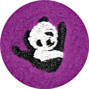 ランズエンド フリース パンダ 刺繍