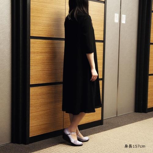 黒田知永子 東京ソワール ブラックフォーマルワンピース