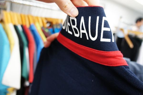 エディーバウアー クールプラス フラッグパッチピケストライプ ポロシャツ