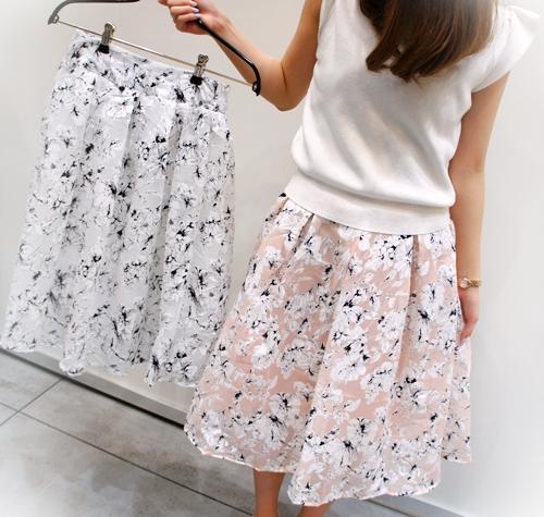 2015SS フィフス fifth 花柄スカート