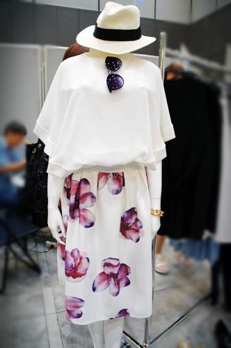 フィフス fifth CEDNIE【2015S/S】ビッグフラワーミディスカート