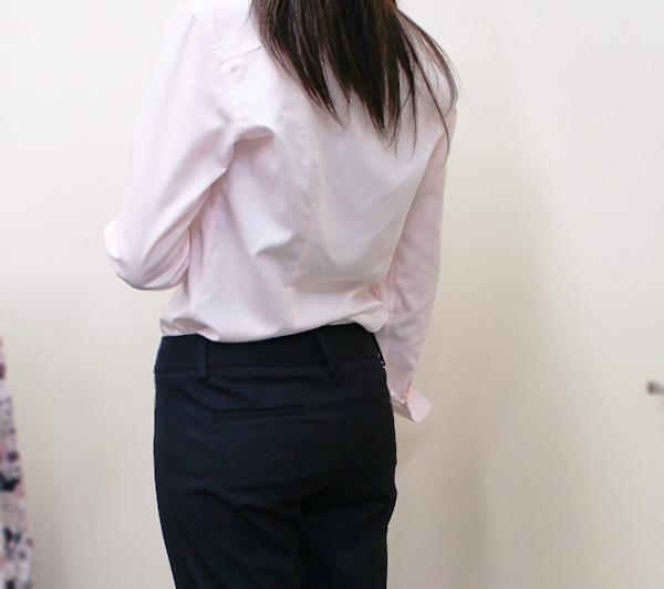ランズエンド レディス・美型シルエット・体型別ドレスパンツ/A体型/アンクル/無地