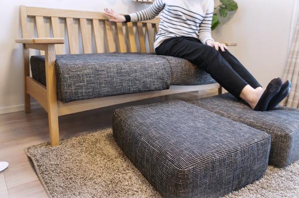 ベルメゾンデイズ オーク材フレーム のソファ
