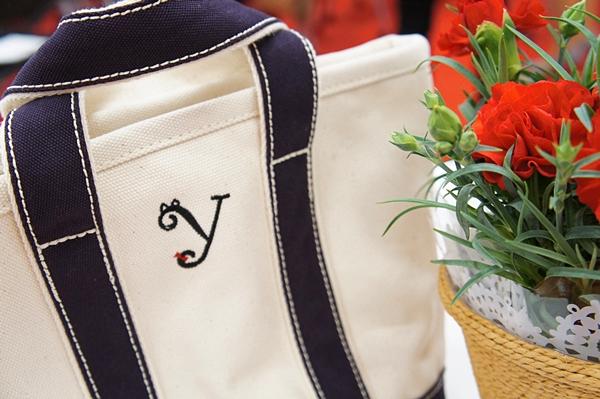 ランズエンドトート2016母の日クロネコイニシャル刺繍