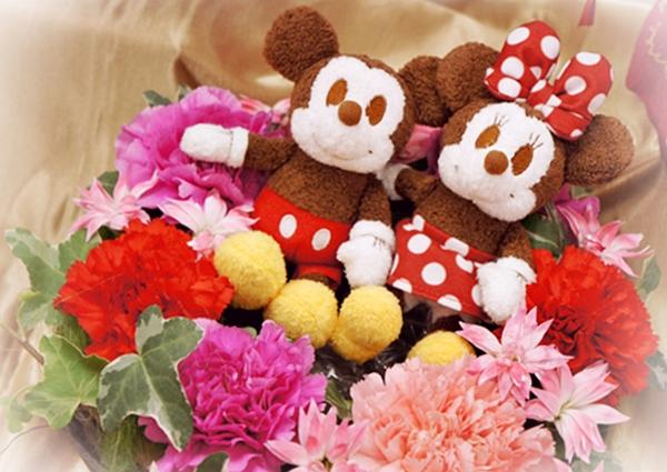 日比谷花壇 ディズニー アレンジメント「ミッキー&ミニー サンクスリース」