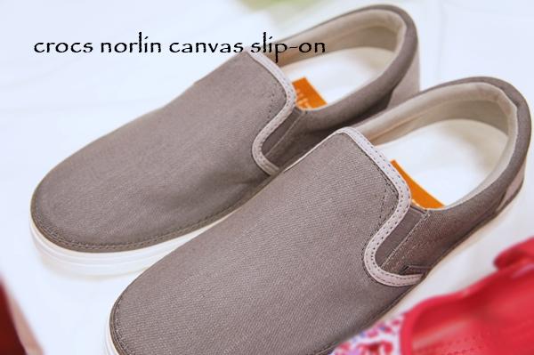 crocs norlin canvas slip-on クロックス ノーリン キャンバス スリップオン