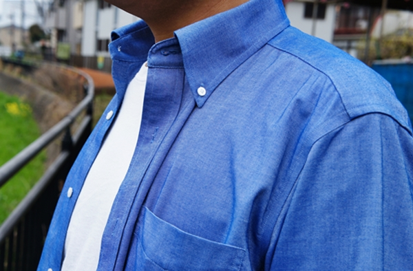ランズエンド 立体Xシャツ メンズ・ノーアイロン・スーピマ・オックスフォード