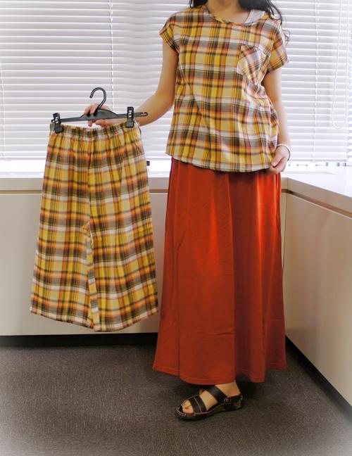 ベルメゾンデイズ 綿100%ダブルガーゼパジャマ マキシスカート