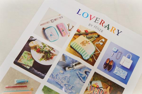 フェイラーのギフトショップ『LOVERARY BY FEILER』のタブロイド