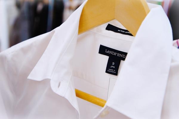 ランズエンド 美型シルエットシャツ ペティートサイズ