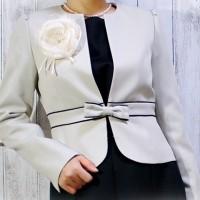 アッドルージュ フォーマルデザインワンピーススーツ ジャケット ママスーツ
