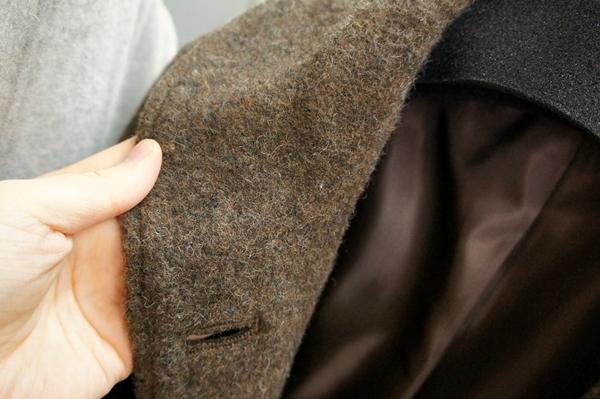 ベルメゾンデイズ 軽い着心地のエアーウール ジャケットコート ステンカラーコート