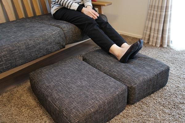 オーク材フレームのソファー(BELLE MAISON DAYS)