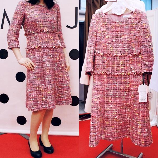 MISS J(ミス ジェイ)LAPINE (ラピーヌ)2017年秋冬コレクション インポートファンシーツイードドレス