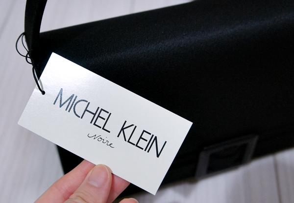 【MICHEL KLEIN Noire】ベルトバッグ ミッシェル クラン ノアール ブラックフォーマルバッグ冠婚葬祭