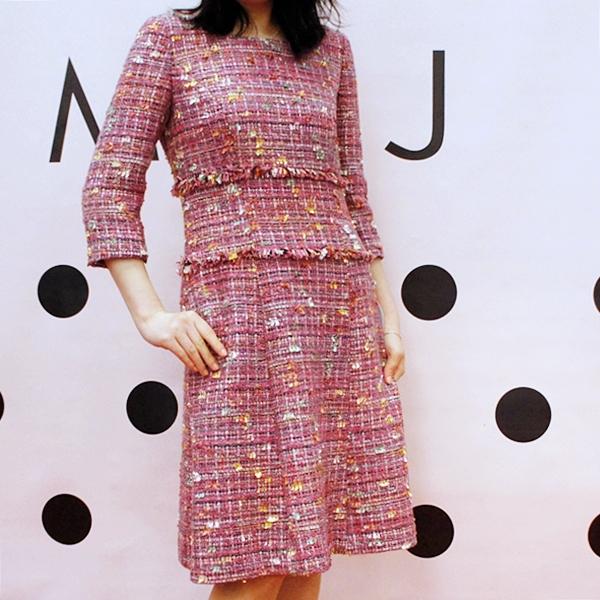 ラピーヌ ミスj 【MISS J】COMPORE ツィードドレス ワンピース