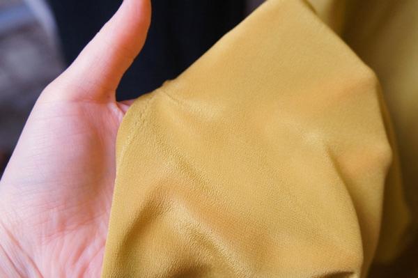 ベルメゾン ミモレコラボ 大草直子 洗えるシルクワンピース