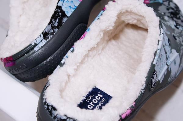 crocs2017秋冬サンダル ルームシューズ クロックス フリーセイル グラフィック ラインド ウィメン