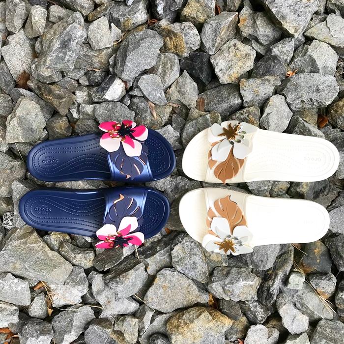 Women's Crocs Sloane Botanical Floral Slide クロックス スローン ボタニカル フローラル スライド ウィメン