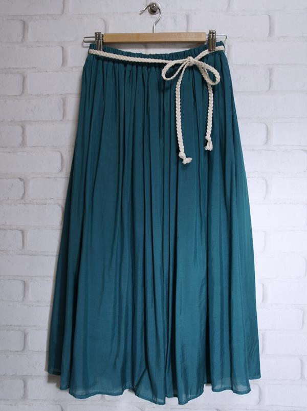 オシャレウォーカー さらふわカラーギャザーロングスカート