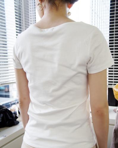 前後二重超通勤ロゴプリントカットソー ベルメゾン リルネ Tシャツ