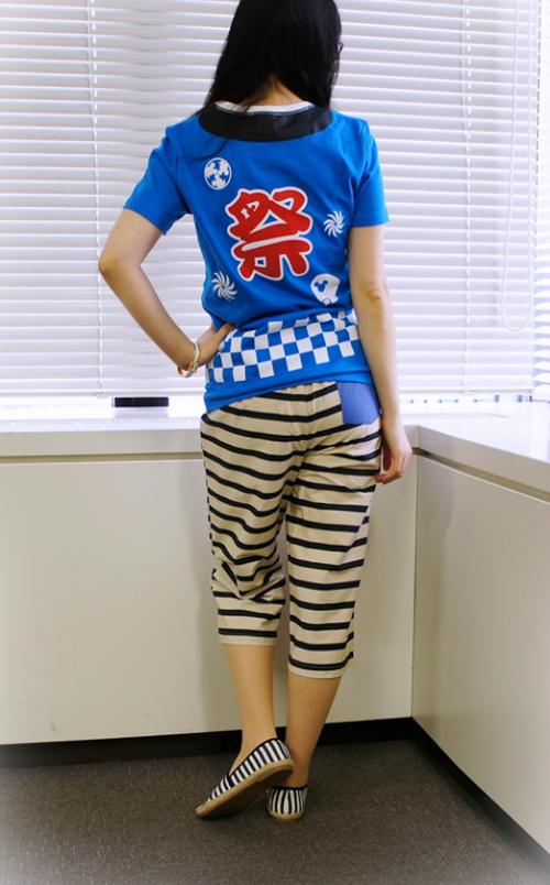 ディズニー お祭りプリントTシャツ ベルメゾン