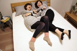 ベルメゾンデイズ ダブルベッド オーク材の高さが変えられるベッド