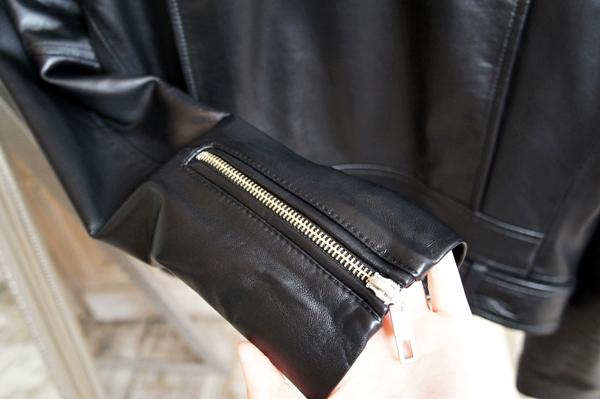 ミモレコラボ 大草直子 ベルメゾン ラムレザーライダースジャケット