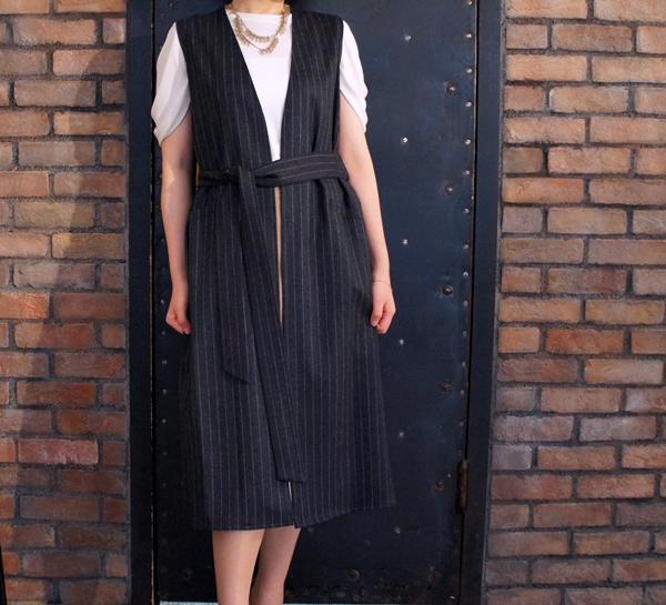 ベルメゾン ミモレ SUPER100'S使用ウールサキソニーロングジレ(StyleNote/スタイルノート)