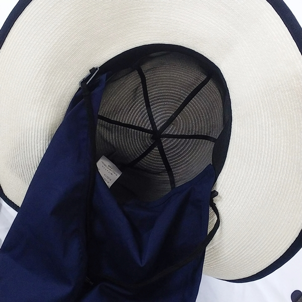 ベルメゾン【夏の超最強】丸洗いできるリボンブレードハット