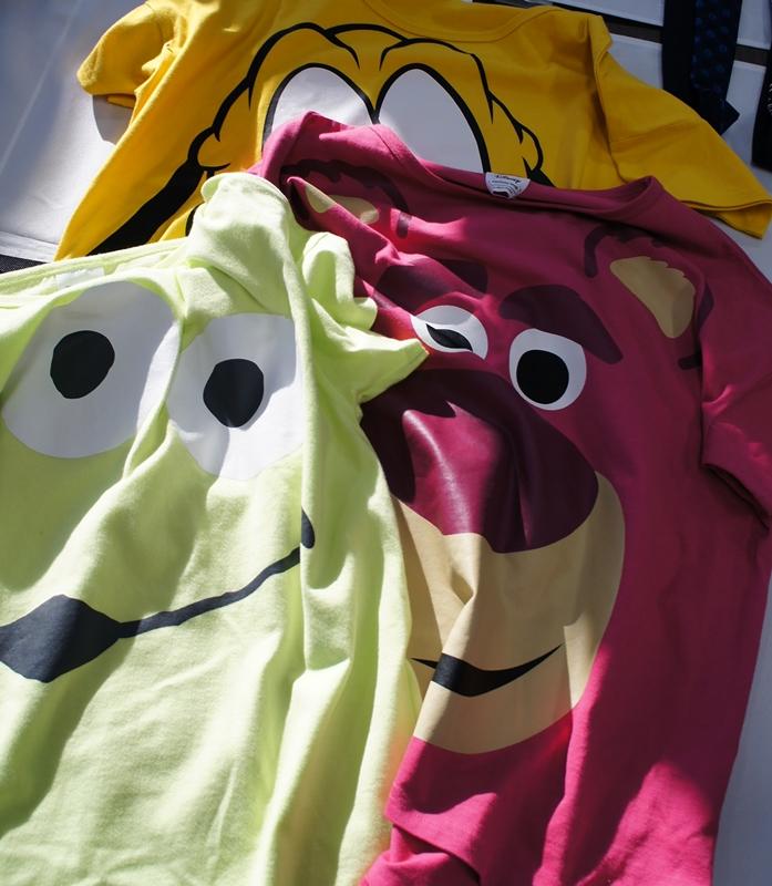 ベルメゾン エイリアン ロッツォ・ハグベア ディズニー 半袖ビッグシルエットフェイスTシャツ(レディース)