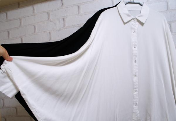 アンティカ antiqua ドルマンシャツ 美シルエットで素敵に魅せる。変形デザインシャツ