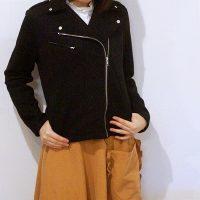 フェリシモ 浜島直子さん はまじとコラボ 伸びる! 着心地らくちんライダースジャケット